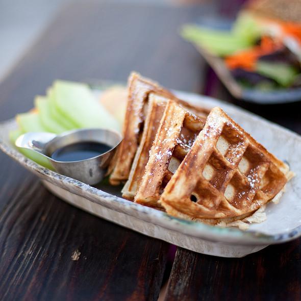 Ginger Quinoa Waffle - Samovar Tea Lounge - Yerba Buena Gardens, San Francisco, CA