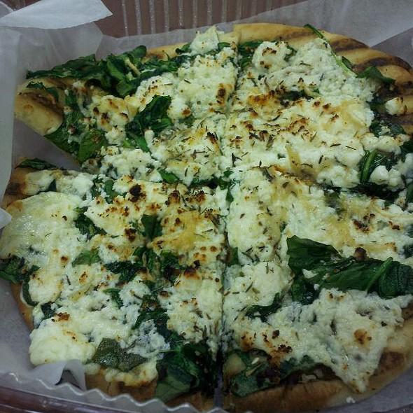 Spinach Feta Flatbread  @ Zahtar