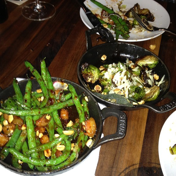 Blistering Green Beans And Brussel Sprouts @ Manhattan Beach Post