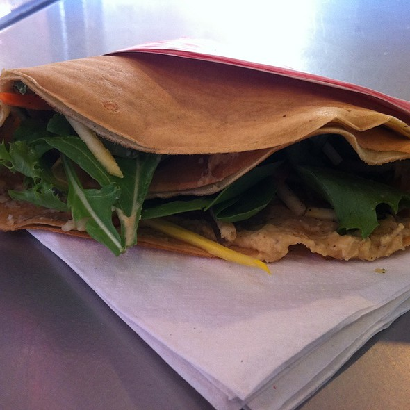 Truffeled Hummus & Vegetable Crepe