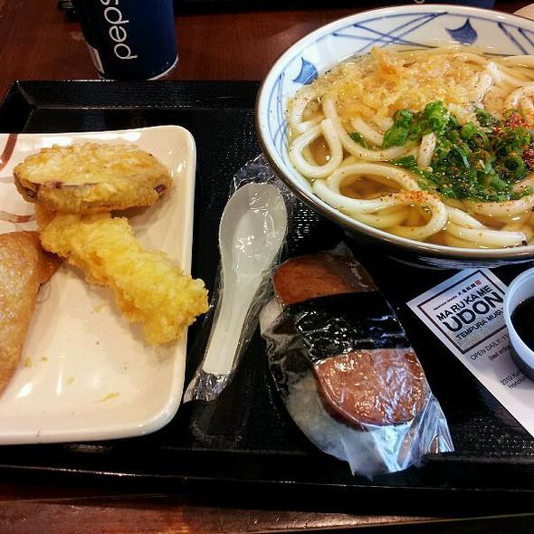 Freshly made udon noodles @ Marukame Udon
