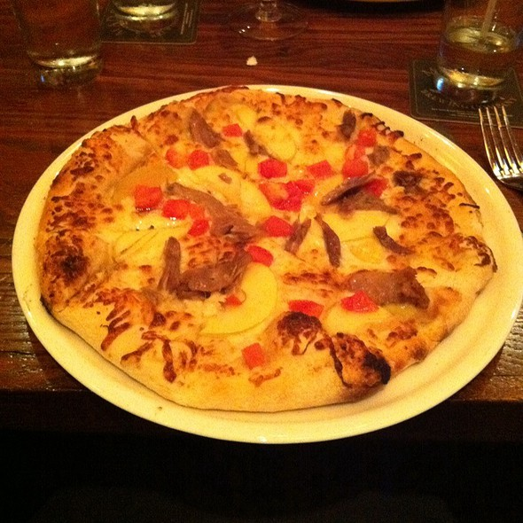 Duck, Apple, Tomato Specialty Pizza  @ Mad Fox Brewery