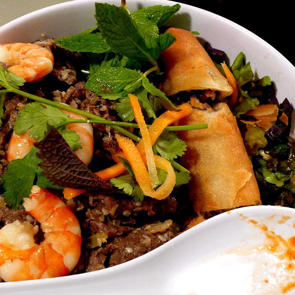 vermichelli w pork, shrimp and spring rolls @ Pho Cafe