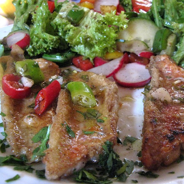 Grilled Barbel with Salad @ Il Girasole
