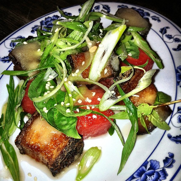 Watermelon Pickle And Crispy Pork Salad - Fatty Crab, New York, NY