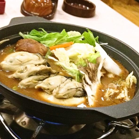 牡蠣のあたたか味噌仕立て鍋 @ 夢庵千歳烏山店