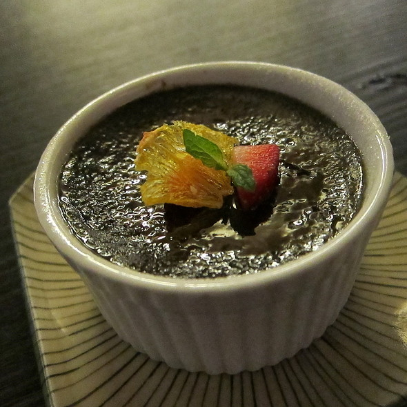 Black Sesame Creme Brulee @ Izakaya Den