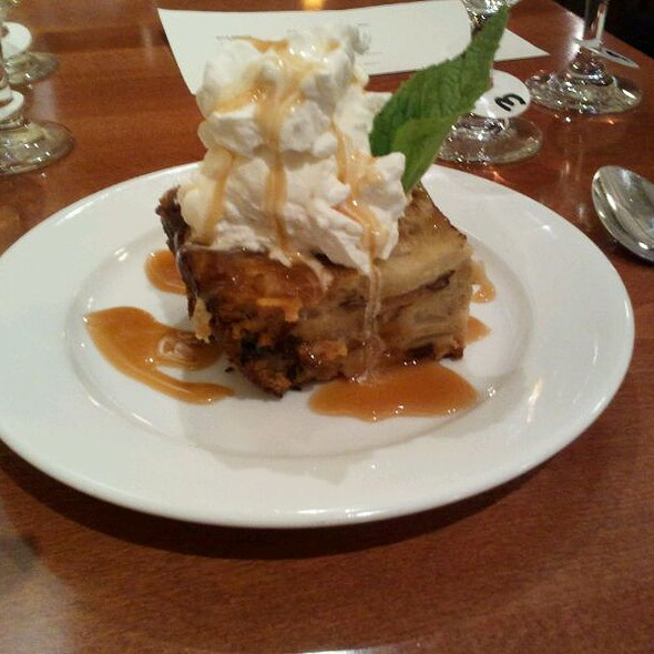 Carmel apple bread pudding  @ Haute Stuff