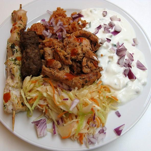 Greek Plate @ Paparazzi Restaurant