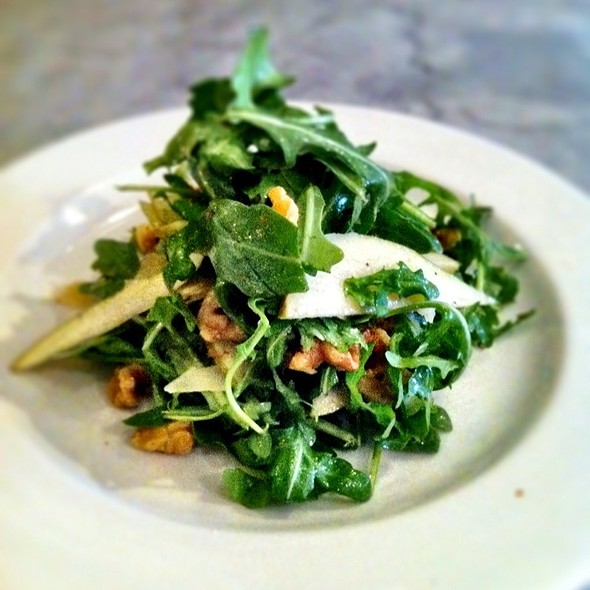 Arugula Salad With Parmesan, Pear And Walnut @ Pizzeria Libretto