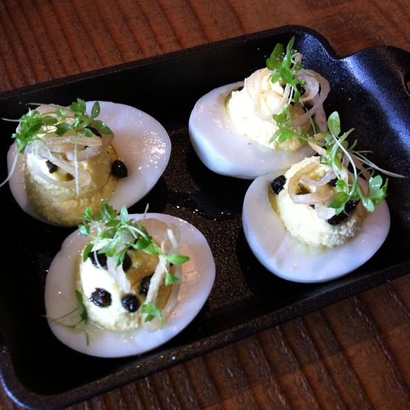 Deviled Eggs With Fried Capers And Shallots