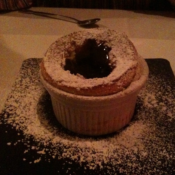 Souffle With Chocolate Grand Marnier Sauce - Zebra Restaurant, Charlotte, NC