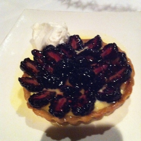 Lemon Creme Brule Blavkberry Tart - The Blue Star, Colorado Springs, CO