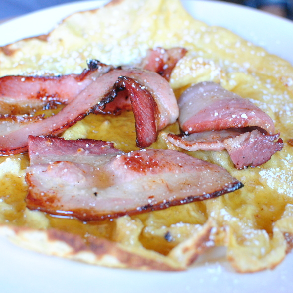 Dutch Baby with House Smoked Bacon & Maple Syrup @ The Spotted Pig
