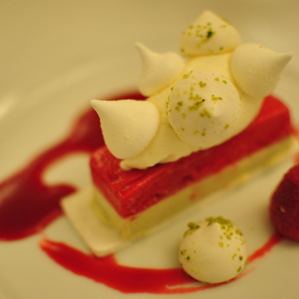 Amazing Rasberry Dessert @ Cafe Boulud
