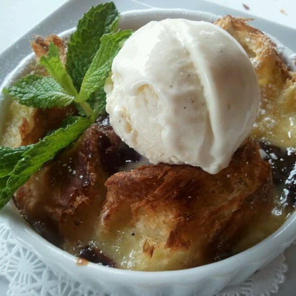 Chocolate Croissant Bread Pudding - Chaya Venice, Venice, CA