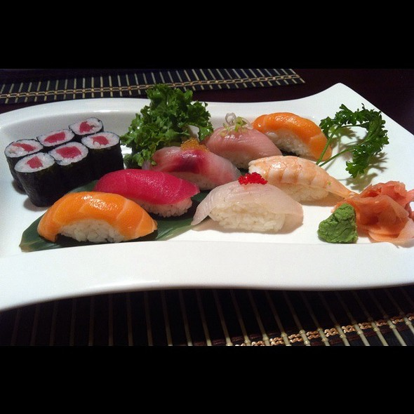 Assorted Nigiri And Tuna Roll