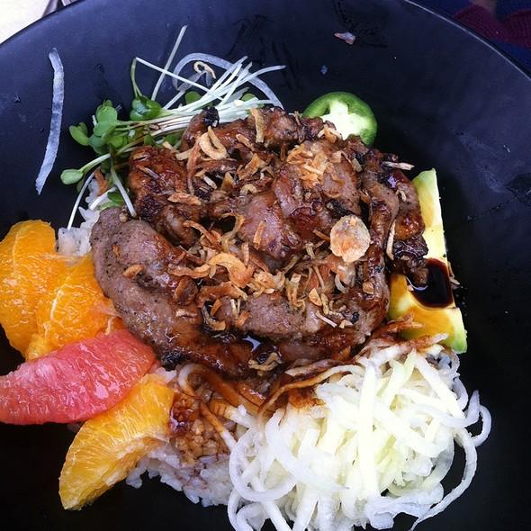 Caramel Citrus Rice Bowl @ Bun Mee