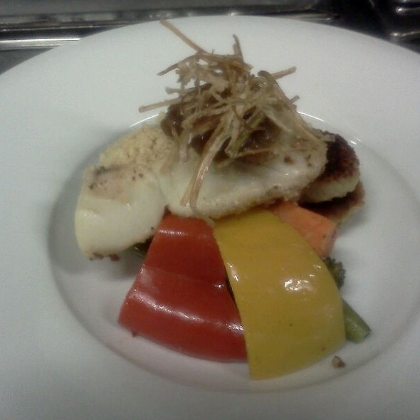 Almond Crusted Halibut @ Wharfside Seafood Grille