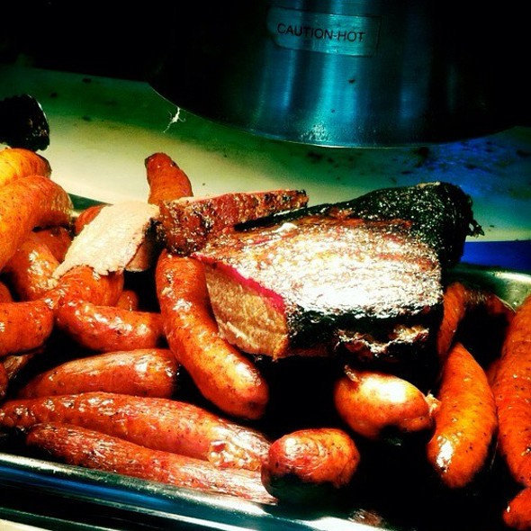 Brisket And Sausage Combo @ The Salt Lick