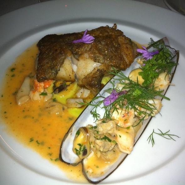 Stuffed Cod With Razor Clams @ Spago Beverly Hills