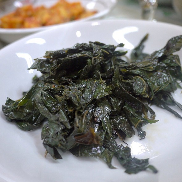Boiled Cassava Leafs