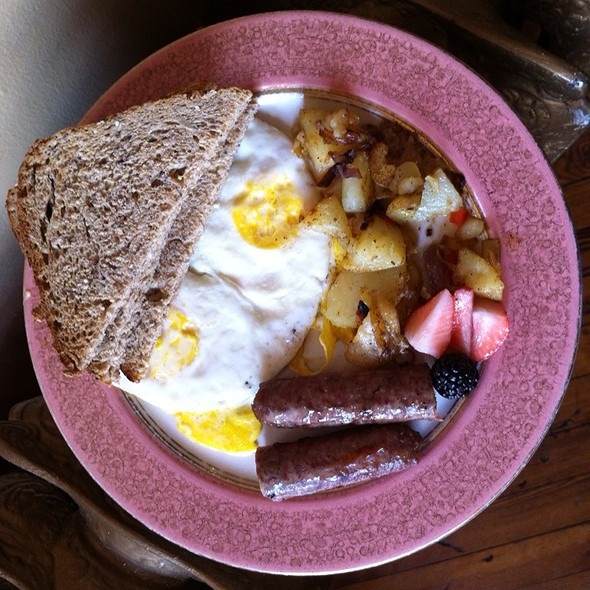 Two Eggs Over Hard, Mapple Sausage, Crispy Potatoes, Multigrain Toast  - Catherine's Restaurant, Kennett Square, PA