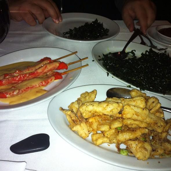 Gambei, Chicken Satay And Fried Calamari - Philippe, New York, NY