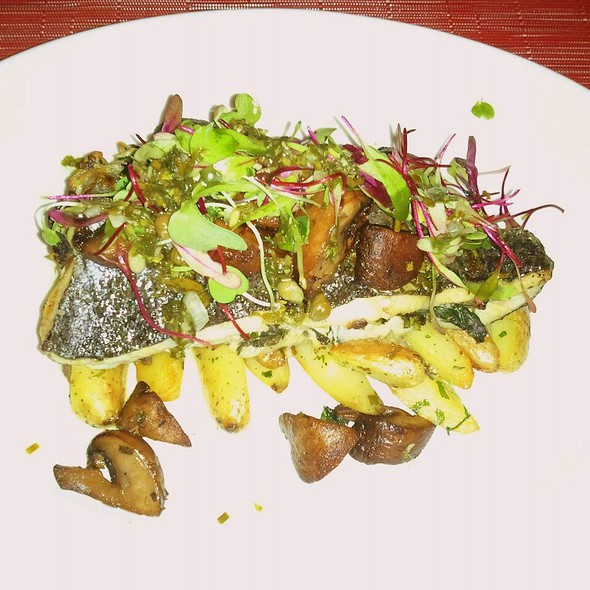 Pocono's Brook Trout over fingerling potatoes with chantrelle mushrooms @ Solefood