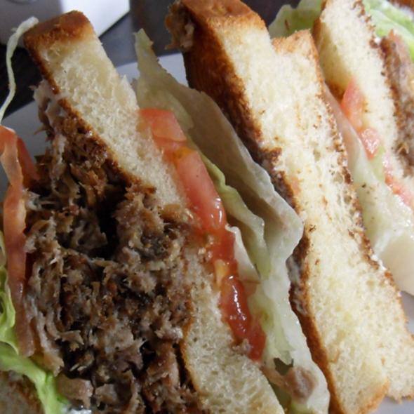 Duck Confit Club Sandwich @ Capdeville