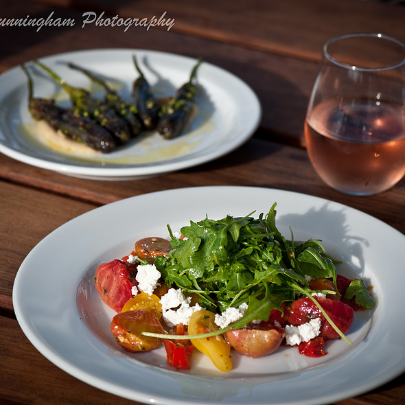 Roasted Boca Farm Beet Salad, Italian frying peppers, cherry tomatoes, feta and lemon vinaigrette @ Kitchen Door