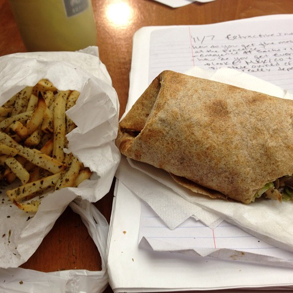 Bella Wrap And Rosemary Baked Fries @ Conscious Cravings