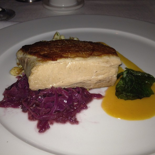 Pork Belly With Braised Red Cabbage & Spetzl - Meritage at the Claremont, Berkeley, CA