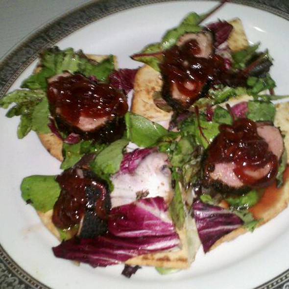 Duck Pizzetta With Arugula And White Truffle Oil @ The Atelier