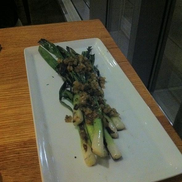 Grilled Scallions - Catalyst Restaurant, Cambridge, MA