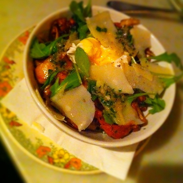 Anson Mills Polenta, Wild Mushrooms, Truffled Pecorino, Poached Farm Egg @ Marlowe