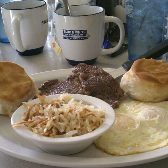 Steak and Eggs @ Blue & White Diner
