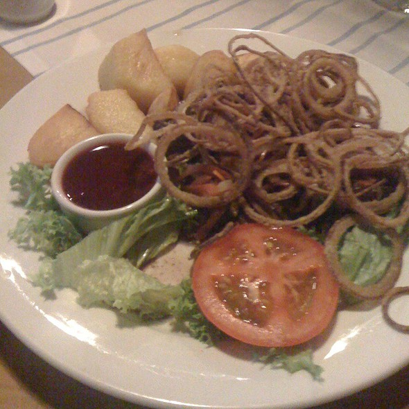 Steak W/ Onion Rings @ Viena Caffe