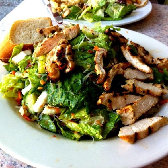 Cajun & Mozzarella Grill Salad @ Crepevine