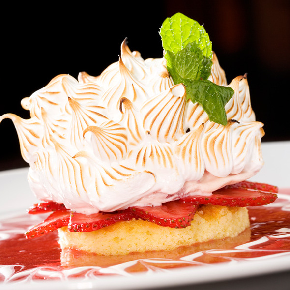 Strawberry Baked Alaska - Brand Steakhouse - Monte Carlo, Las Vegas, NV