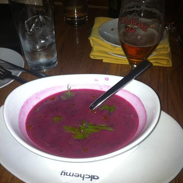 Roasted Beet Soup @ Alchemy Restaurant