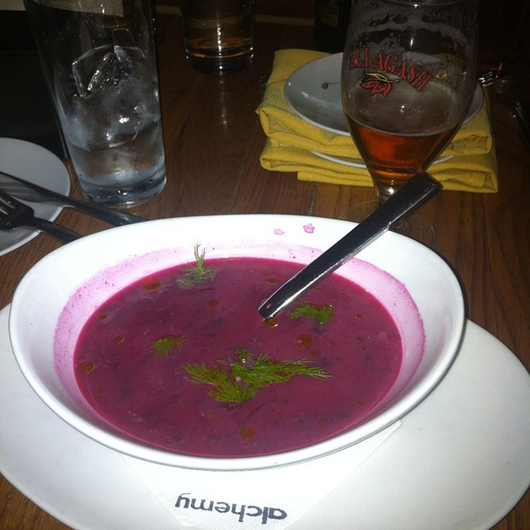 Roasted Beet Soup @ Alchemy Restaurant