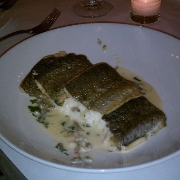 Crispy Skinned Trout with White Polenta - Jacques Brasserie, New York, NY