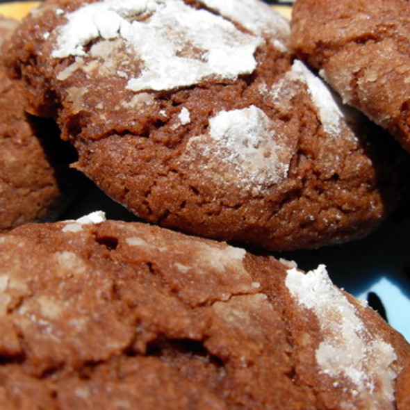 Chocolate Crinkle Cookies @ HealthFood Stalker