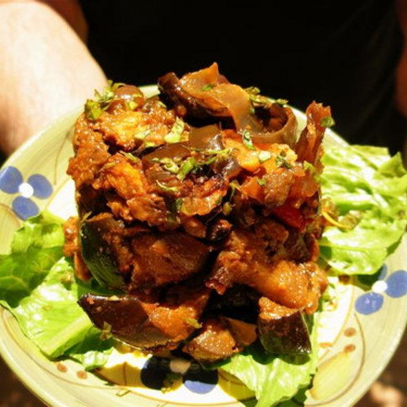 Papa's Original Recipe Indian Eggplant @ HealthFood Stalker