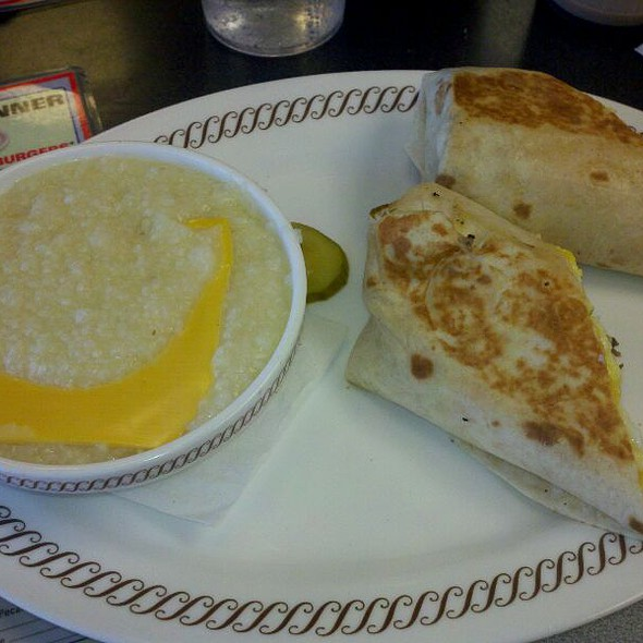 Sausage Wrap And  Cheese Grits @ Waffle House