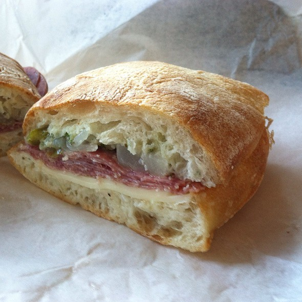 Salumi Salami Sandwich @ Salumi Artisan Cured Meats