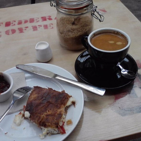 Breakfast Bacon and Tomato pie @ Federation Coffee