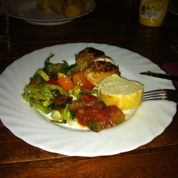 BBQ Lemon Parmesan Chicken With Peperonata And Salat @ HUT