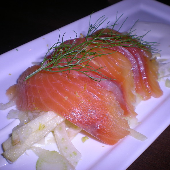 House cured salmon, apple fennel slaw - Montarra, Algonquin, IL